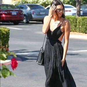 Kendall Jenner backless black maxi
